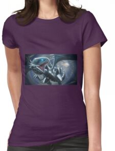 Emerging Blue-eyes White Dragon Womens Fitted T-Shirt