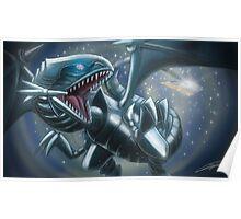 Emerging Blue-eyes White Dragon Poster