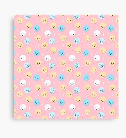 Happy Cute Cookies Canvas Print
