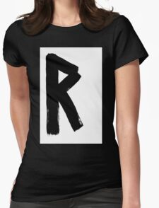 Anglo-Saxon Futhorc rād ride r Womens Fitted T-Shirt