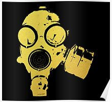 Gold Gas Mask Poster