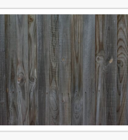 Simple Wooden Fence Sticker