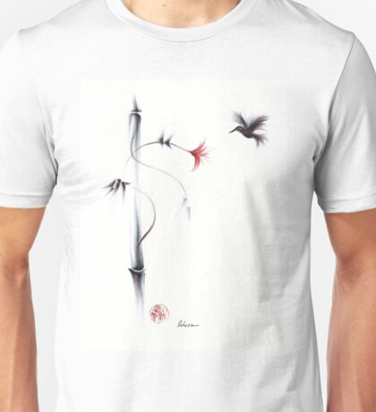 Sweetness - Hummingbird & Flower Painting Unisex T-Shirt