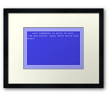 C64 Start Up Screen Framed Print