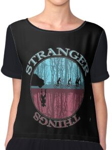 stranger things monster and eleven Chiffon Top