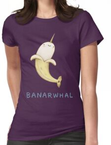 Banarwhal Womens Fitted T-Shirt