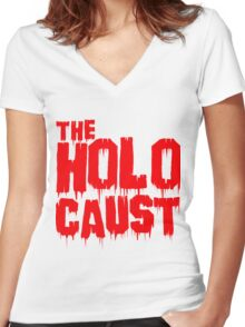 Holocaust Women's Fitted V-Neck T-Shirt