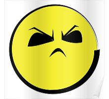 """Angry Face (Yellow Emoticon) """"Humph""""  Poster"""
