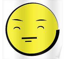 Happy Anime Face  (Yellow Emoticon) ^_^ Poster