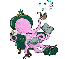 Mister Octopus reads a good book by Bantambb