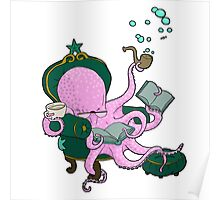 Mister Octopus reads a good book Poster
