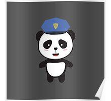 Panda Police Officer Poster