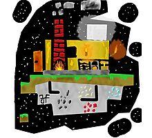 Minecraft Sky Land (Night) Photographic Print