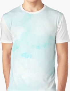 Bright Clouds Watercolor Texture Graphic T-Shirt