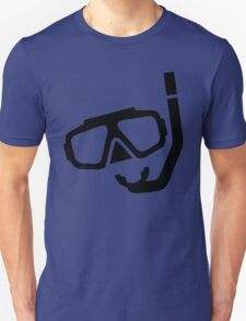 Diving Mask Silhouette (Snorkels) Unisex T-Shirt