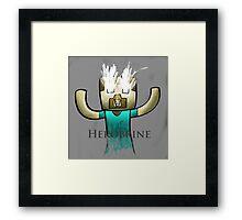 Minecraft Herobrine :) Framed Print