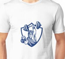 Berserker Lifting Barbell Kettlebell Crest Retro Unisex T-Shirt