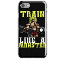 Funny Workout - Train Like A Monster iPhone Case/Skin