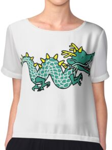 Anime Cartoon Happy Chinese Dragon Chiffon Top