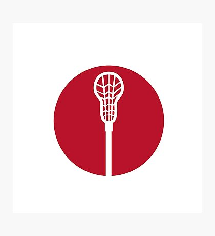 Lacrosse Stick Circle Icon Photographic Print