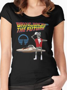 Bring Back the Future Horizons Robot Butler Women's Fitted Scoop T-Shirt