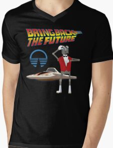 Bring Back the Future Horizons Robot Butler Mens V-Neck T-Shirt