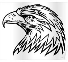 Eagle Head Drawing Poster