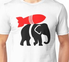 Elephant Rocket Unisex T-Shirt