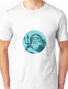 Triton Trident Front Circle Retro Unisex T-Shirt