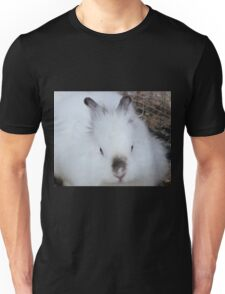 cute white rabbit Unisex T-Shirt