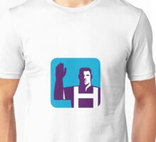 Worker Right Arm Raise to Vote Square Retro Unisex T-Shirt