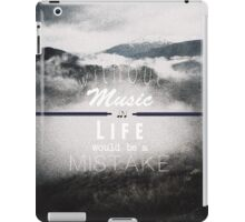What a mistake iPad Case/Skin