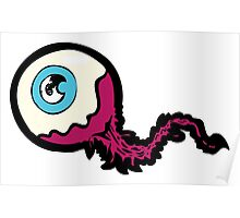 Scary Eyeball Drawing Poster
