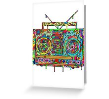 Boom Box Greeting Card