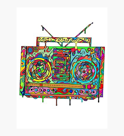 Boom Box Photographic Print
