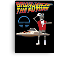 Bring Back the Future Horizons Robot Butler Canvas Print