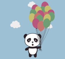 Panda with colorful balloons One Piece - Short Sleeve
