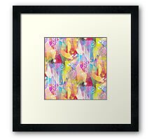 Painted Chaos Framed Print