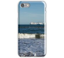 Your Viking Ride - NorthLink Ferry Leaving Aberdeen Harbour iPhone Case/Skin
