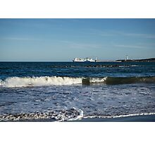 Your Viking Ride - NorthLink Ferry Leaving Aberdeen Harbour Photographic Print