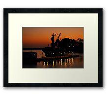 Beauty At The Docks Framed Print