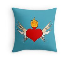sagrado corazón Throw Pillow