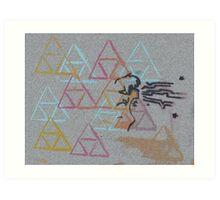Triforce Echoes  Art Print