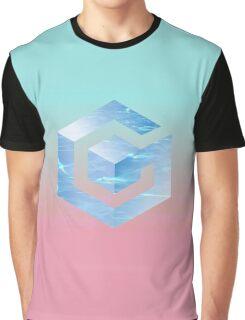VAPORWAVE GAMECUBE LOGO Graphic T-Shirt