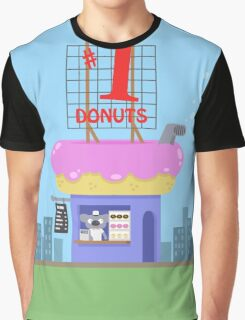 Snack Shacks #1 - Number One Donuts Graphic T-Shirt
