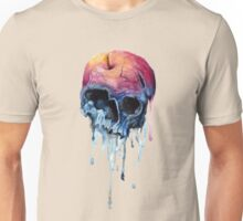 melting apple skull scary Unisex T-Shirt