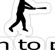 Softball - Play Ball Sticker