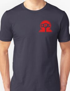 Red OmegaOps Logo on Black Background Unisex T-Shirt