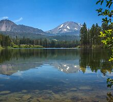 Mount Lassen From Manzanita Lake by James Eddy