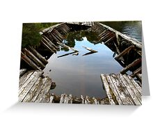 Ruins of a Huon Pine Barge Greeting Card